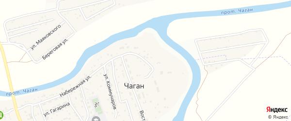 Студенческая улица на карте села Чагана Астраханской области с номерами домов