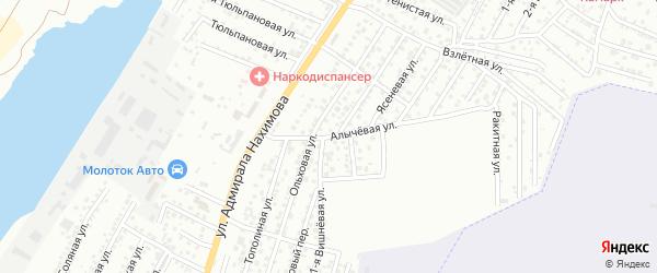 Алычевая улица на карте Астрахани с номерами домов