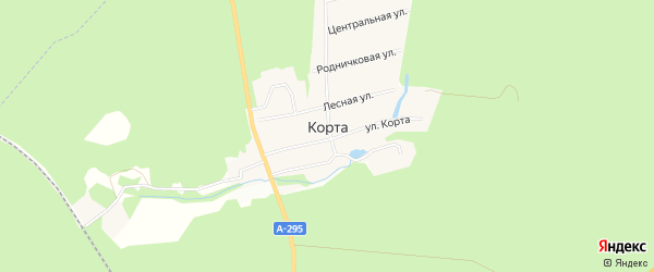 Карта деревни Корты в Марий Эл с улицами и номерами домов