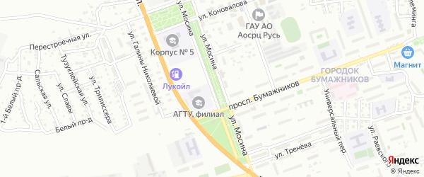 Улица Мосина на карте Астрахани с номерами домов