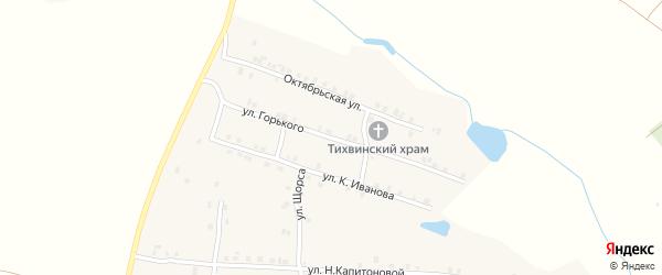 Улица Горького на карте села Мусирмы Чувашии с номерами домов