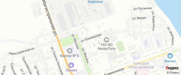 Улица Коновалова на карте Астрахани с номерами домов