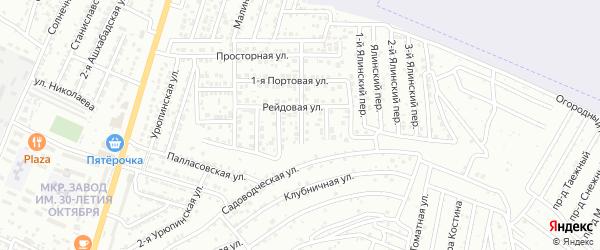 Портовый переулок на карте Астрахани с номерами домов
