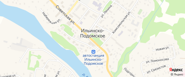 Улица СХТ на карте Ильинско-Подомского села Архангельской области с номерами домов