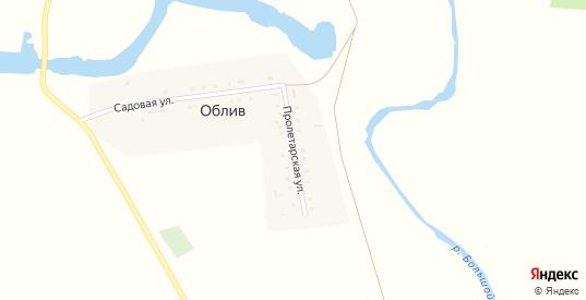 Пролетарская улица в поселке Облив в Саратовской области с номерами домов на карте. Спутник и схема онлайн