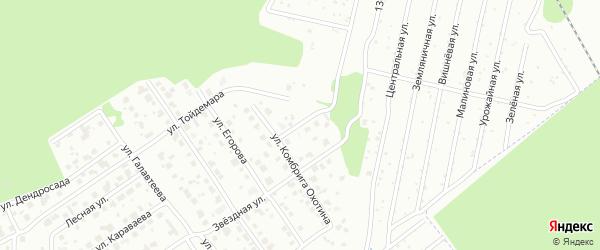 Улица Тимофея Евсеева на карте Йошкар-Олы с номерами домов
