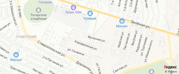 Весенняя улица на карте села Карагали Астраханской области с номерами домов