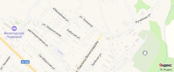 Улица Воронцова на карте Ильинско-Подомского села Архангельской области с номерами домов