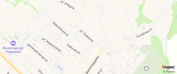 Улица Химиков на карте Ильинско-Подомского села Архангельской области с номерами домов