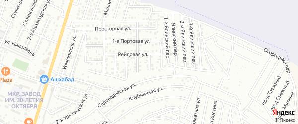 Трамвайный переулок на карте Астрахани с номерами домов
