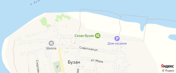 Набережная улица на карте поселка Бузана с номерами домов