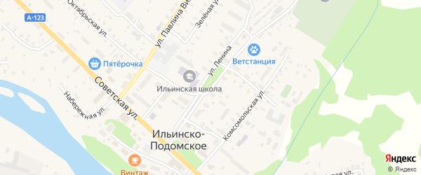 Улица Ленина на карте Ильинско-Подомского села Архангельской области с номерами домов