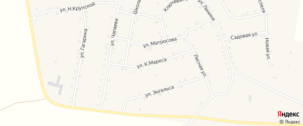 Улица К.Маркса на карте села Мусирмы Чувашии с номерами домов