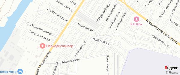 Взлетная улица на карте Астрахани с номерами домов