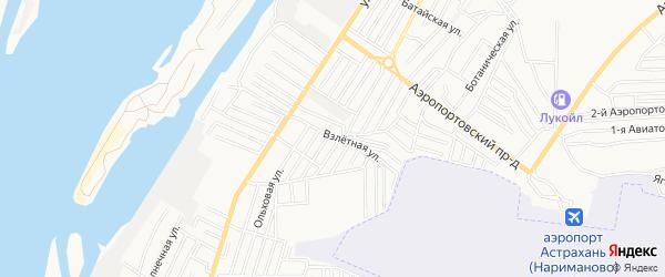 Садовое товарищество Декоратор-2 на карте Астрахани с номерами домов