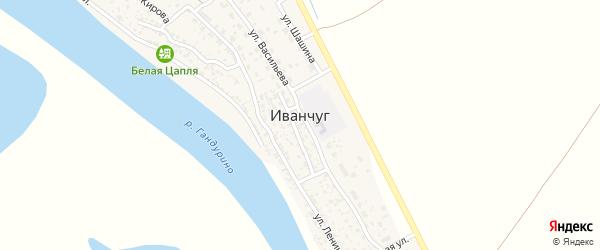 Ново-Лесная улица на карте села Иванчуга Астраханской области с номерами домов