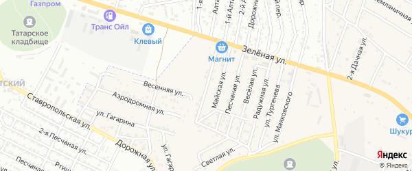 Авангардная улица на карте села Карагали Астраханской области с номерами домов