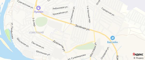 Садовое товарищество Авангард на карте села Карагали Астраханской области с номерами домов
