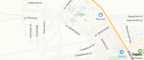 Улица Димитрова на карте Астрахани с номерами домов