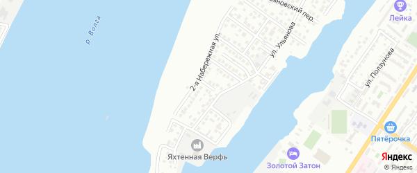 Ульяновский 12-й переулок на карте Астрахани с номерами домов