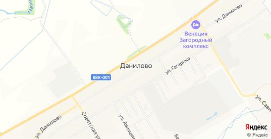 Карта деревни Данилово в Йошкар-Оле с улицами, домами и почтовыми отделениями со спутника онлайн