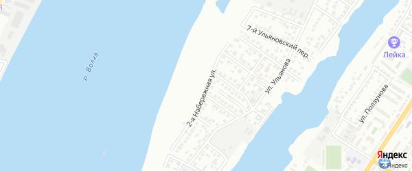Набережная 2-я улица на карте Астрахани с номерами домов