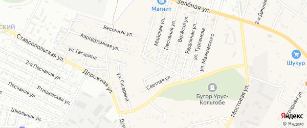 Центральная улица на карте села Карагали Астраханской области с номерами домов