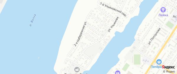 Ульяновский 11-й переулок на карте Астрахани с номерами домов