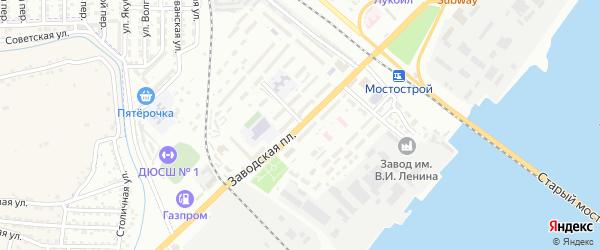 Заводская площадь на карте Астрахани с номерами домов