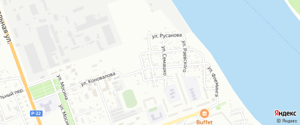 Удмуртская улица на карте Астрахани с номерами домов
