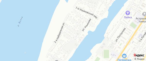 Ульяновский 10-й переулок на карте Астрахани с номерами домов