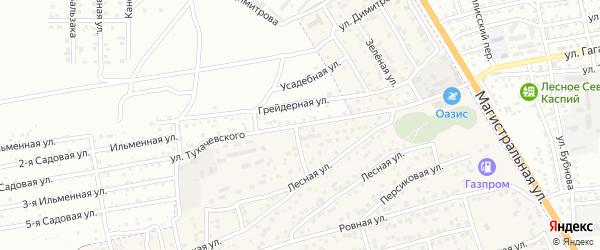 Улица Тухачевского на карте села Солянки Астраханской области с номерами домов