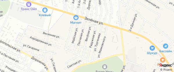 Веселая улица на карте села Карагали Астраханской области с номерами домов