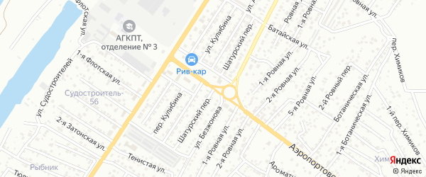 Шатурский переулок на карте Астрахани с номерами домов