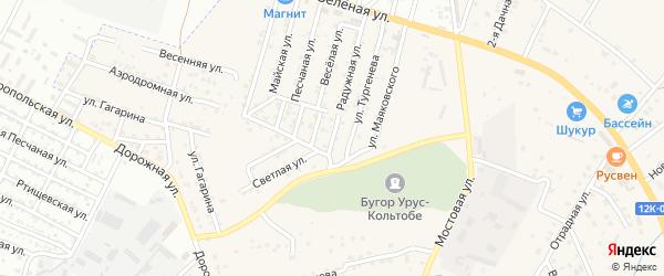 Улица Дружбы народов на карте села Карагали Астраханской области с номерами домов