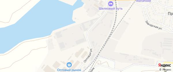 Оптовая улица на карте села Солянки Астраханской области с номерами домов