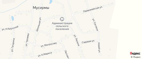 Улица Ленина на карте села Мусирмы с номерами домов