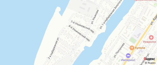 Ульяновский 8-й переулок на карте Астрахани с номерами домов