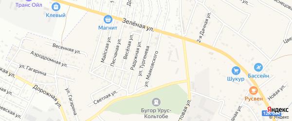 Территория сдт Алка на карте села Карагали Астраханской области с номерами домов