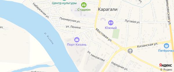 Улица Свердлова на карте села Карагали Астраханской области с номерами домов