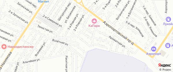 2-й Ароматный переулок на карте Астрахани с номерами домов