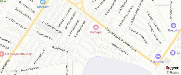 1-й Ароматный переулок на карте Астрахани с номерами домов