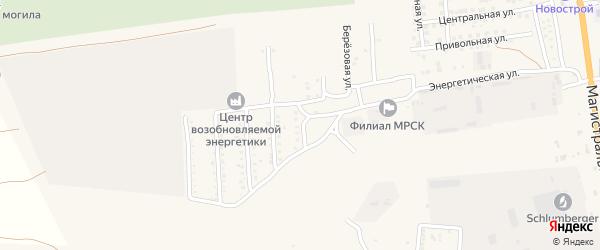 Кленовая улица на карте села Солянки Астраханской области с номерами домов