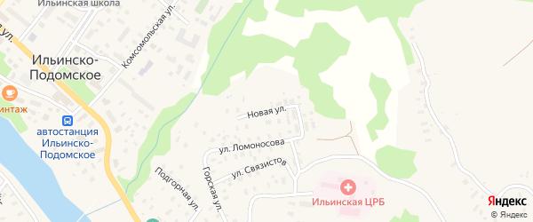 Новая улица на карте Ильинско-Подомского села с номерами домов
