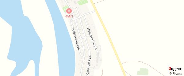 Молодежная улица на карте села Иванчуга с номерами домов