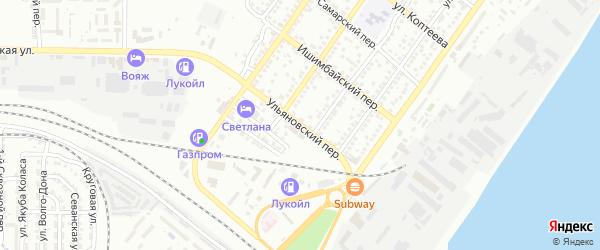 Ульяновский переулок на карте Астрахани с номерами домов