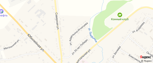 Улица Ардальона Игнатьева на карте села Яльчиков с номерами домов