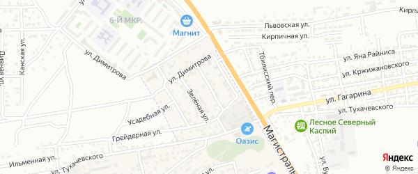 Вишневая улица на карте села Солянки Астраханской области с номерами домов