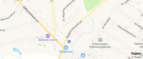 Привокзальная улица на карте села Яльчиков с номерами домов