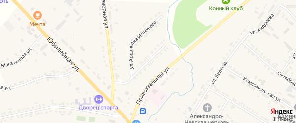 Улица 50 лет Победы на карте села Яльчиков с номерами домов